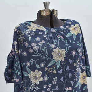 OLD NAVY XL FLORAL COLD SHOULDER TUNIC BLOUSE